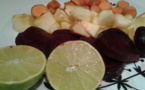 Jus super green  & jus de betterave, pomme et gingembre